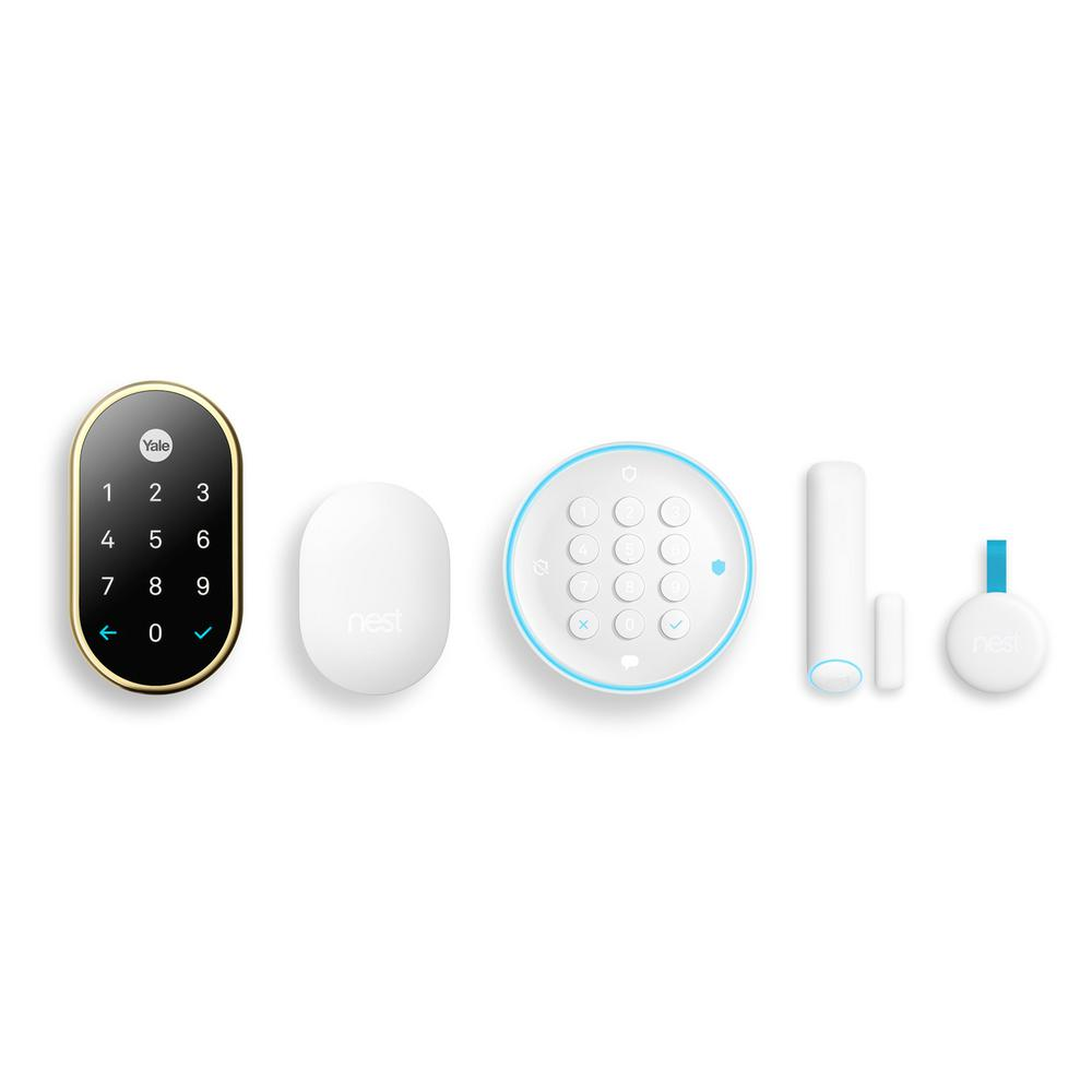 Google Secure Wireless Alarm System Starter Pack And Nest