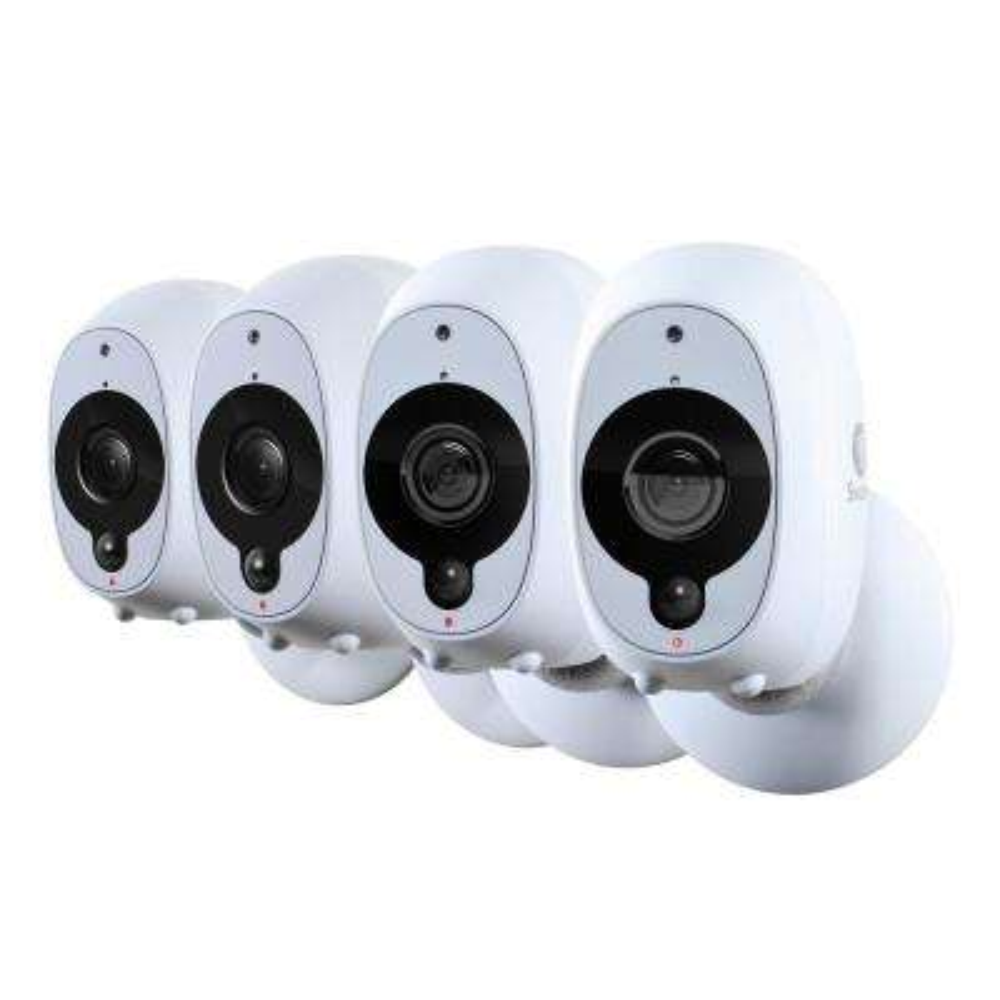 Wireless Smart Security Camera 1080p Full HD Video Camera (4-Pack)