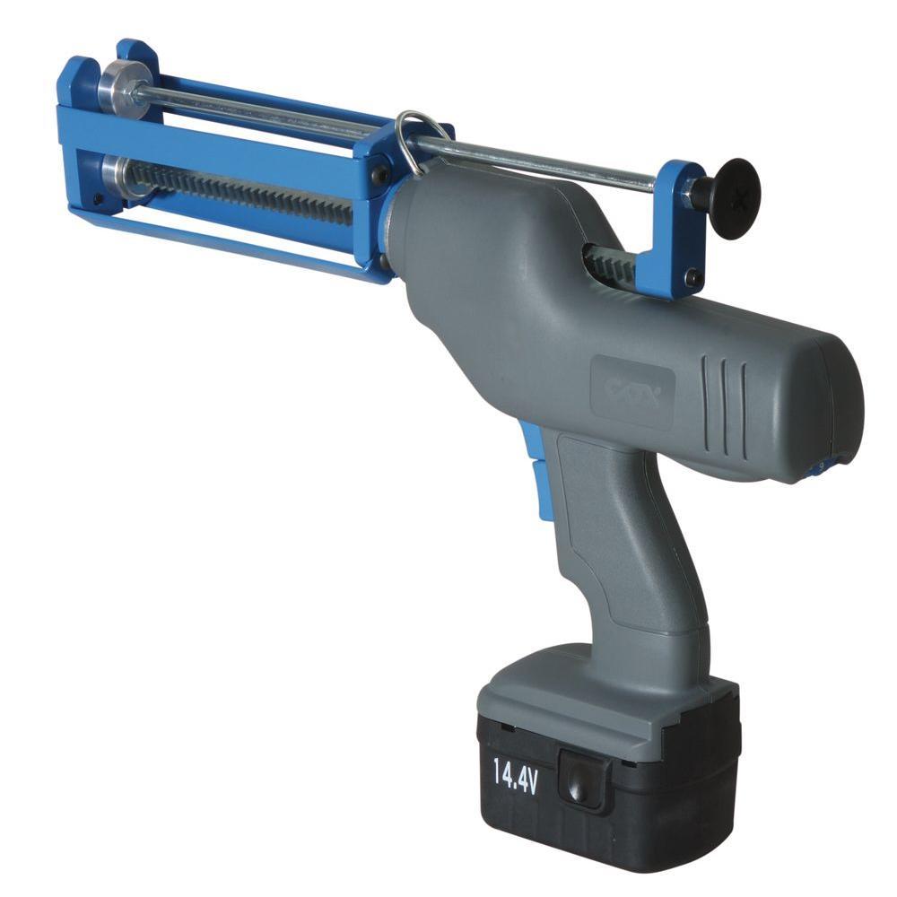 COX 14.4-Volt 200 ml. Multi-Ratio Total System Caulk Gun