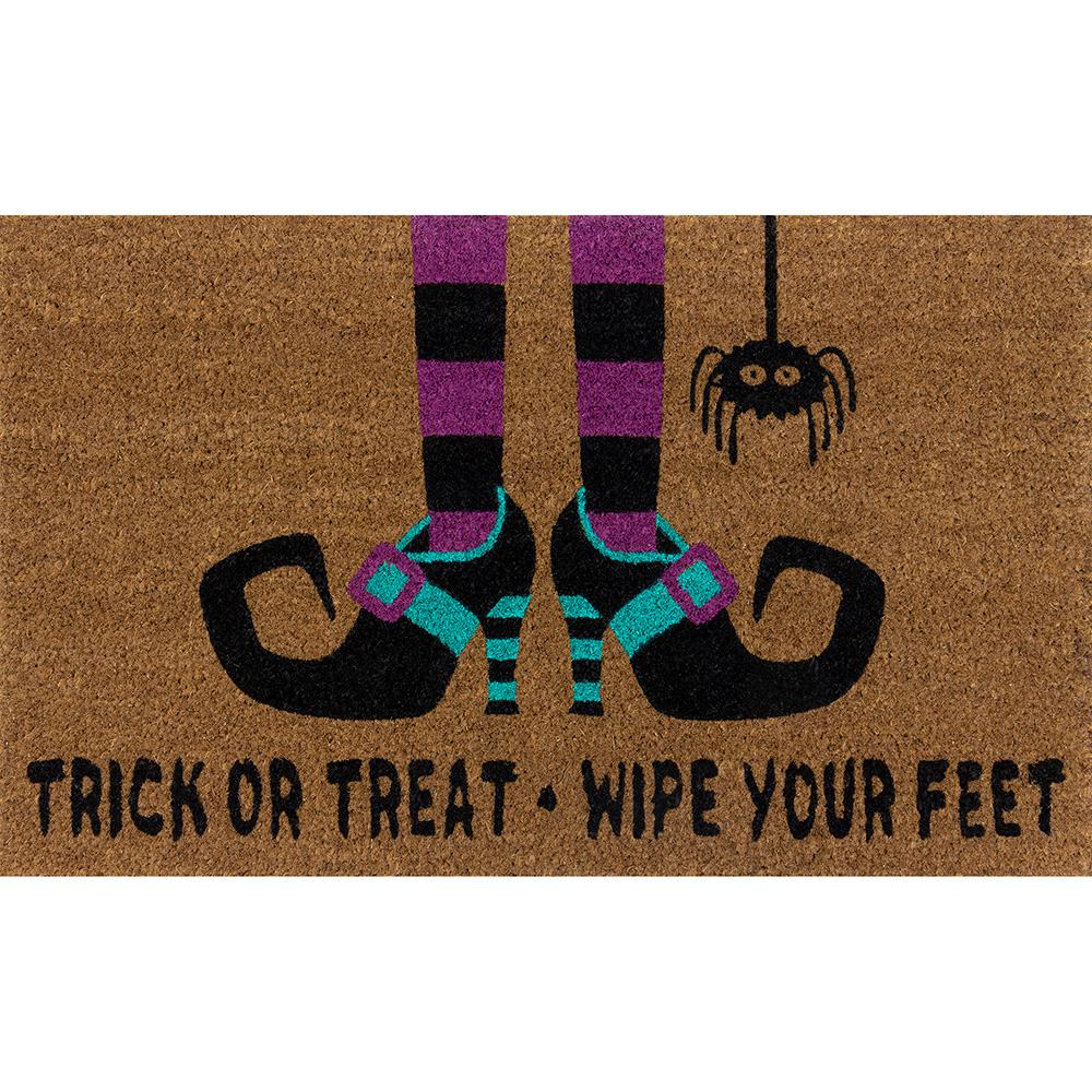 Home Accents Holiday Trick or Treat, Wipe Your Feet 18 in. x 30 in. Coir Door Mat