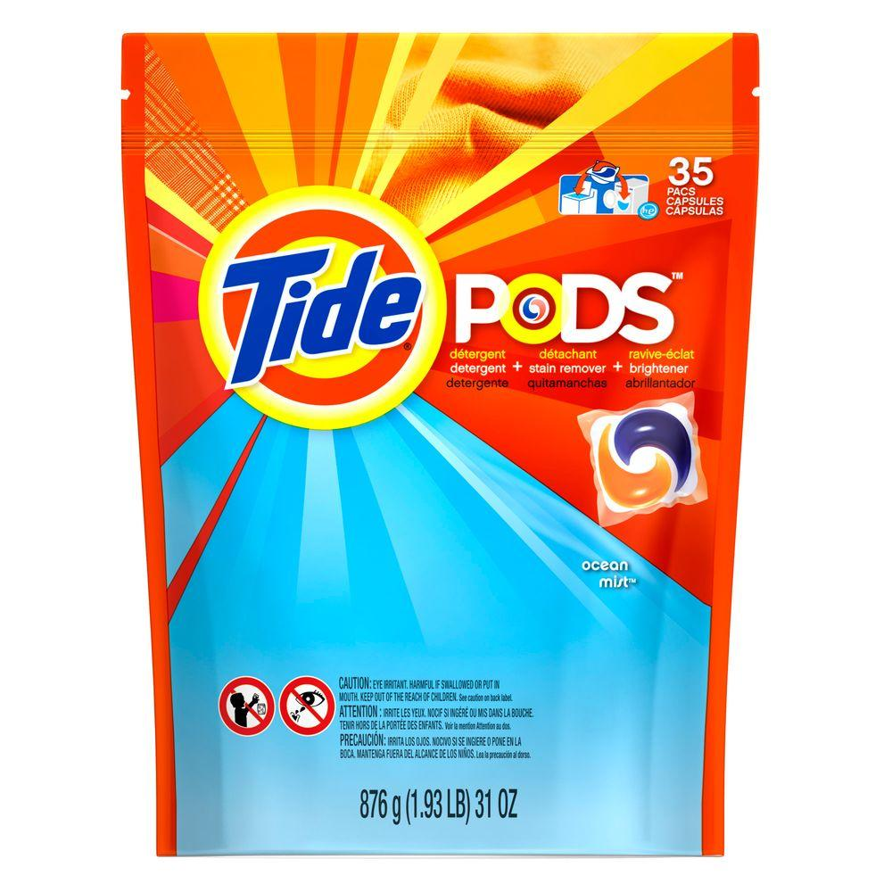 Pods Ocean Mist Laundry Detergent (35 Count)