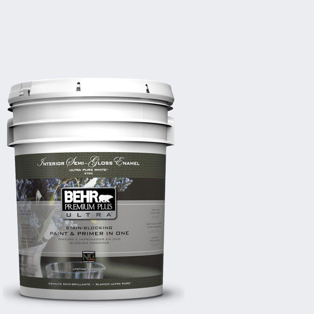 5 gal. #760E-1 Igloo Semi-Gloss Enamel Interior Paint and Primer in