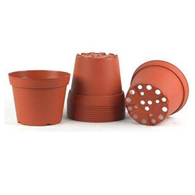 6 in. Plastic Round Pot (10-Pack)