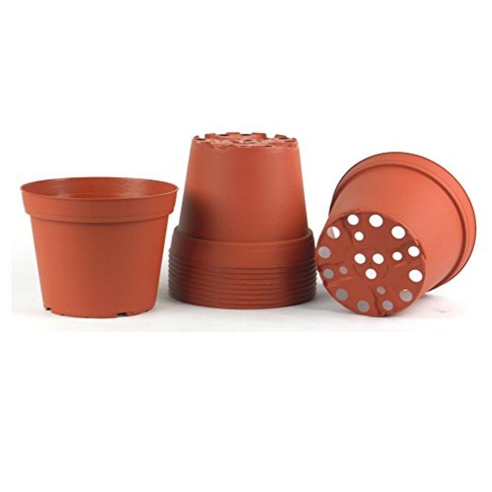 6 in. Plastic Round Pot (10-Pack)