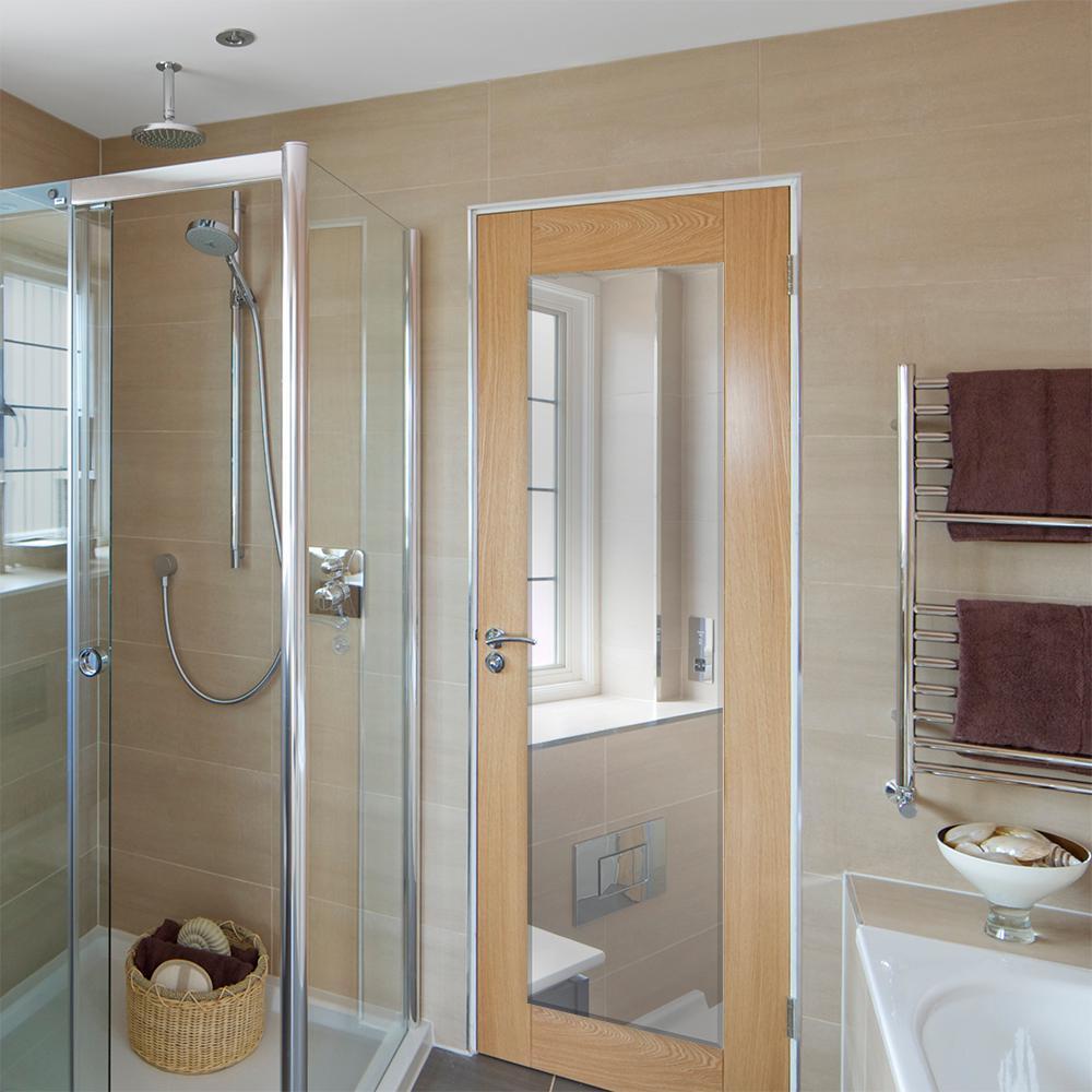 Glacier Bay 18 In W X 68 In H Frameless Rectangular Flush Mount Beveled Edge Bathroom Vanity Mirror In Silver 81172 The Home Depot