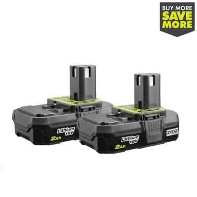 18-Volt ONE+ 2.0 Ah Lithium-Ion Compact Battery (2-Pack)