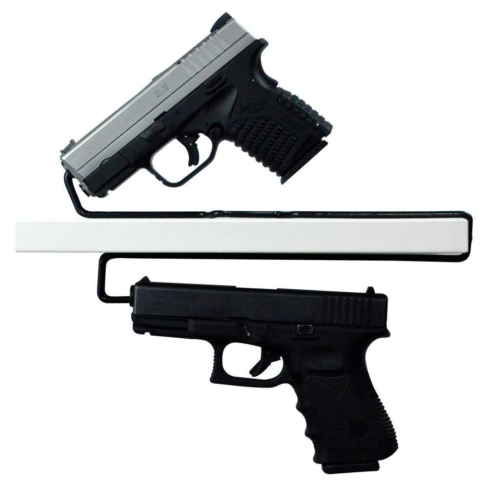 Universal Gun Over/Under Shelf Pistol Hangers (2-Set)