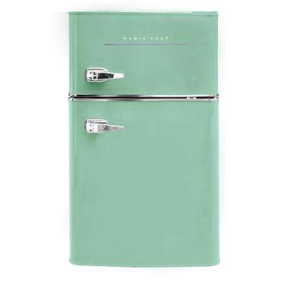 Retro 3.2 cu. ft. 2-Door Mini Fridge in Mint Green