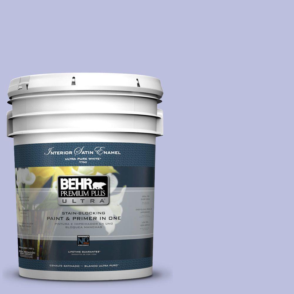 BEHR Premium Plus Ultra 5-gal. #620A-3 Rhapsody Lilac Satin Enamel Interior Paint