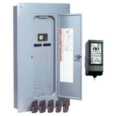 QO 100 Amp 32-Space 32-Circuit Indoor Main Breaker Load Center with Cover, Value Pack, Surge SPD