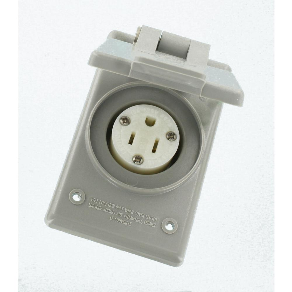Leviton 15 Amp 125-Volt Straight Blade Grounding Power Outlet ...