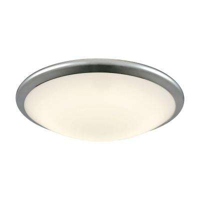 Clancy Chrome and Opal Glass Large Round LED Flush Mount