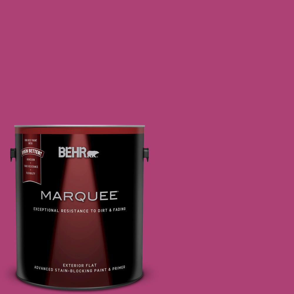 1-gal. #100B-7 Hot Pink Flat Exterior Paint