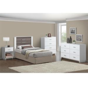 Ameriwood Colebrook 6 Drawer Dresser in Espresso/Vintage White by Ameriwood