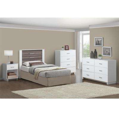 Colebrook 6 Drawer Dresser in Espresso/Vintage White