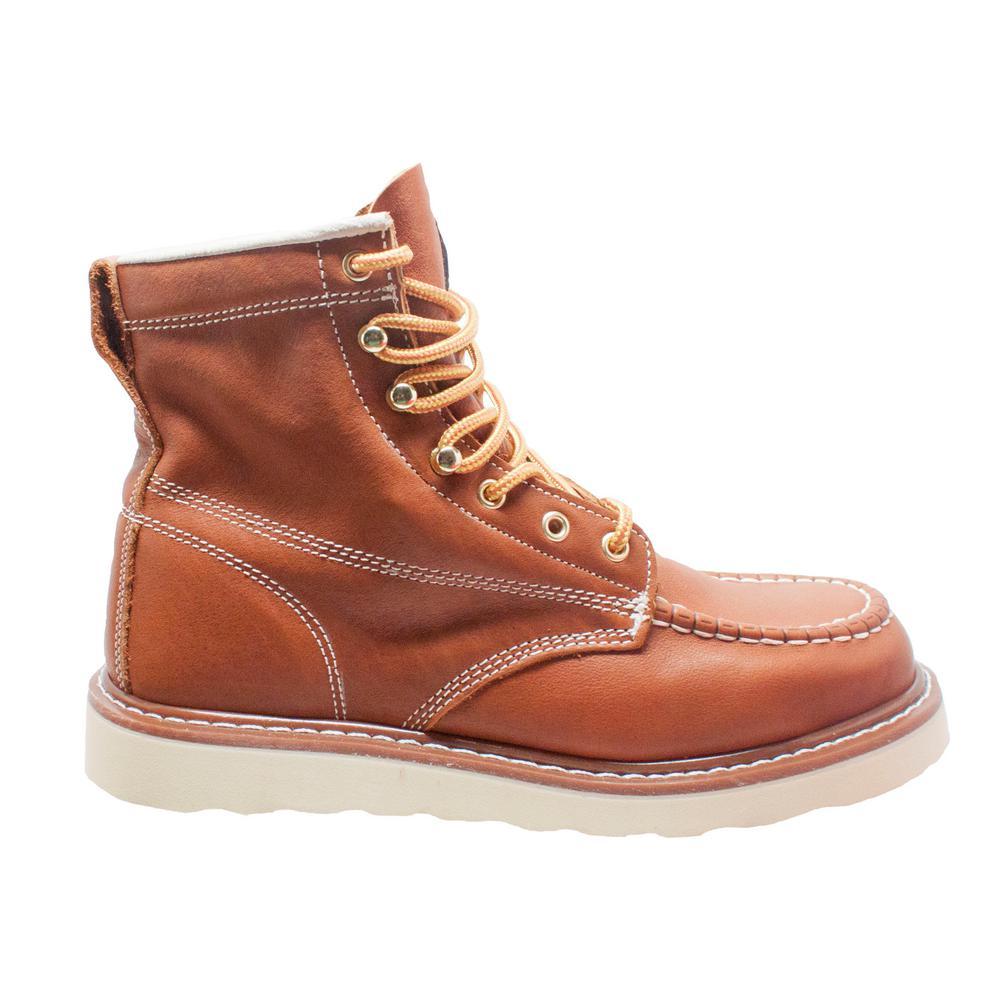 d098145b928 AdTec Men's Size 13 Brown Grain Leather 6 in. Moc Toe Work Boots