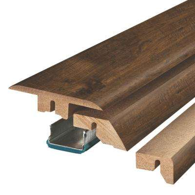 Somerton Auburn Hickory 3/4 in. Thick x 2-1/8 in. Wide x 78-3/4 in. Length Laminate 4-in-1 Molding