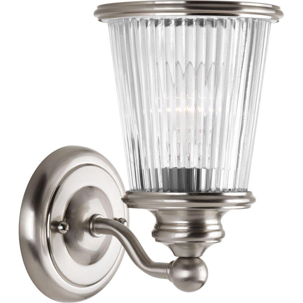 Progress Lighting Radiance Collection Light Brushed Nickel Bath - Single light bathroom sconce