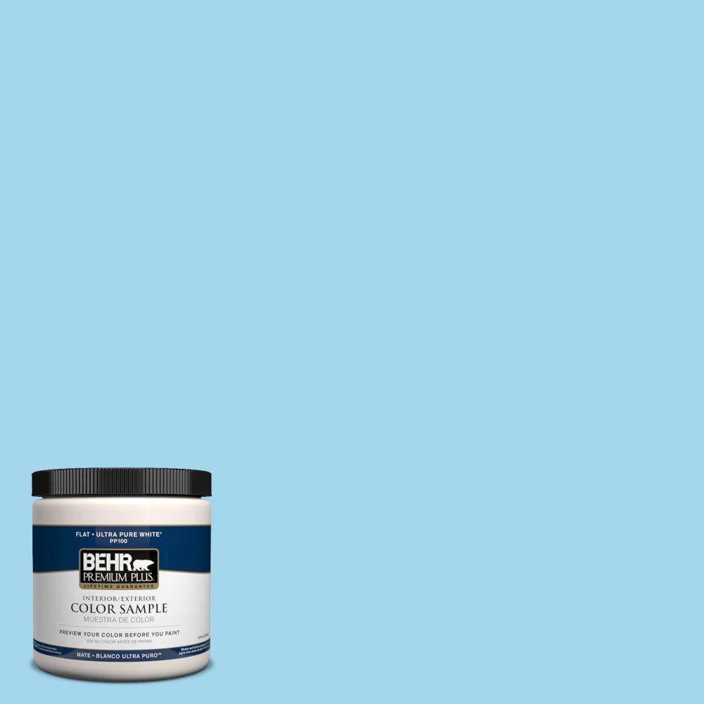 BEHR Premium Plus 8 oz. #PPH-49 Blue Bubble Interior/Exterior Paint Sample