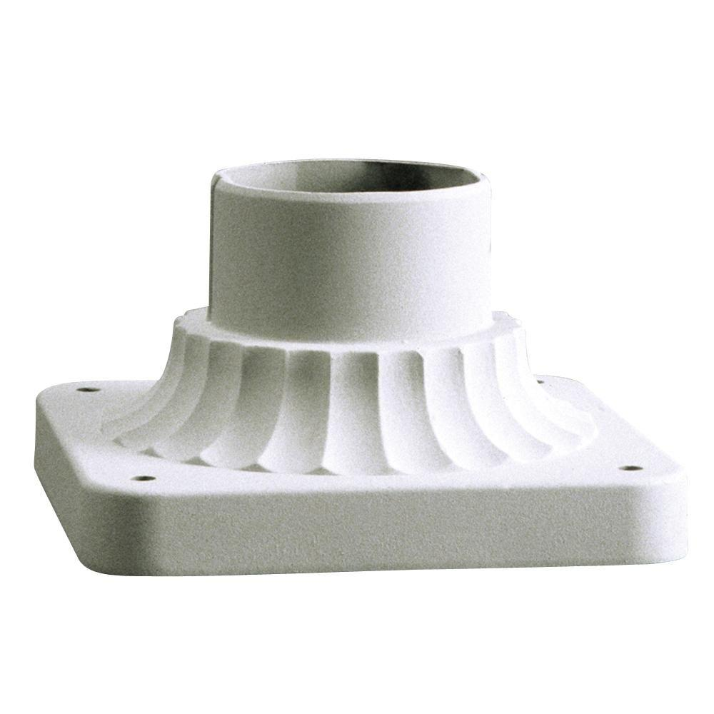 Filament Design Textured White Outdoor Pier Mount Adapter