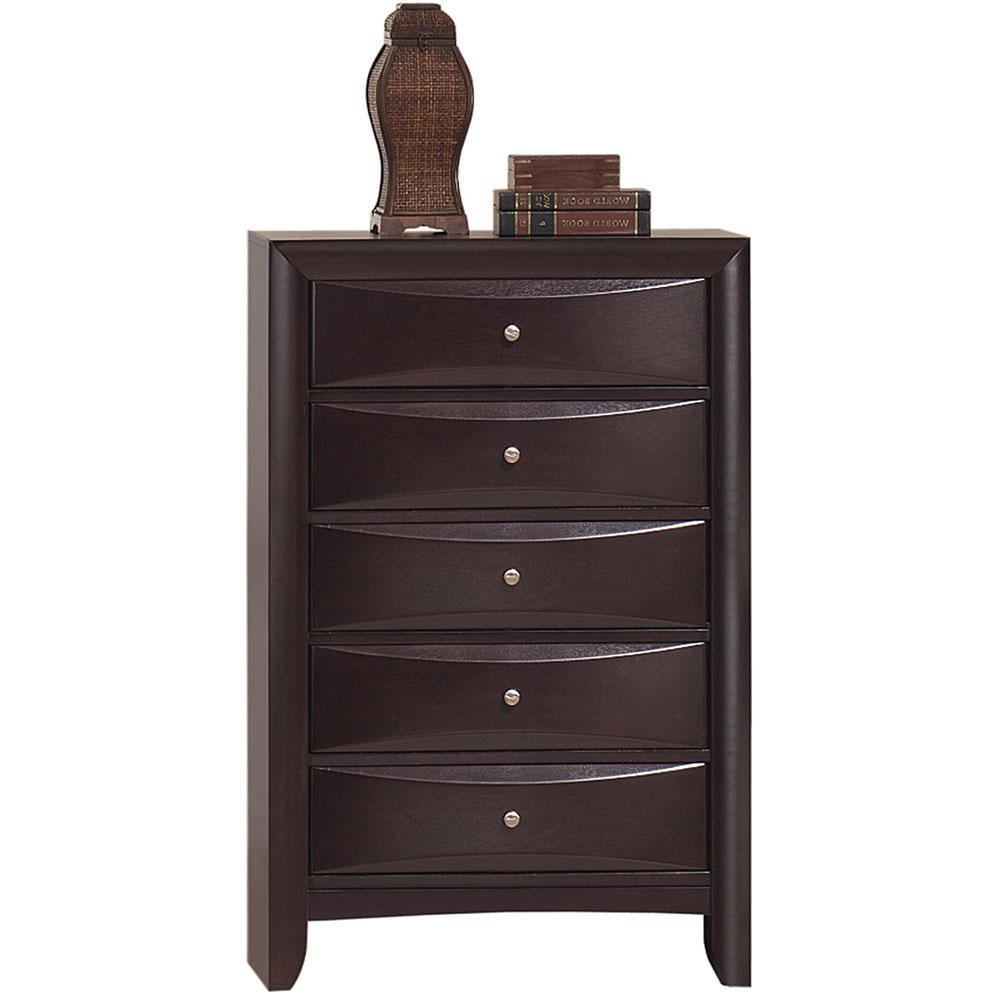 Orleans 5-Drawer Cherry Storage Chest