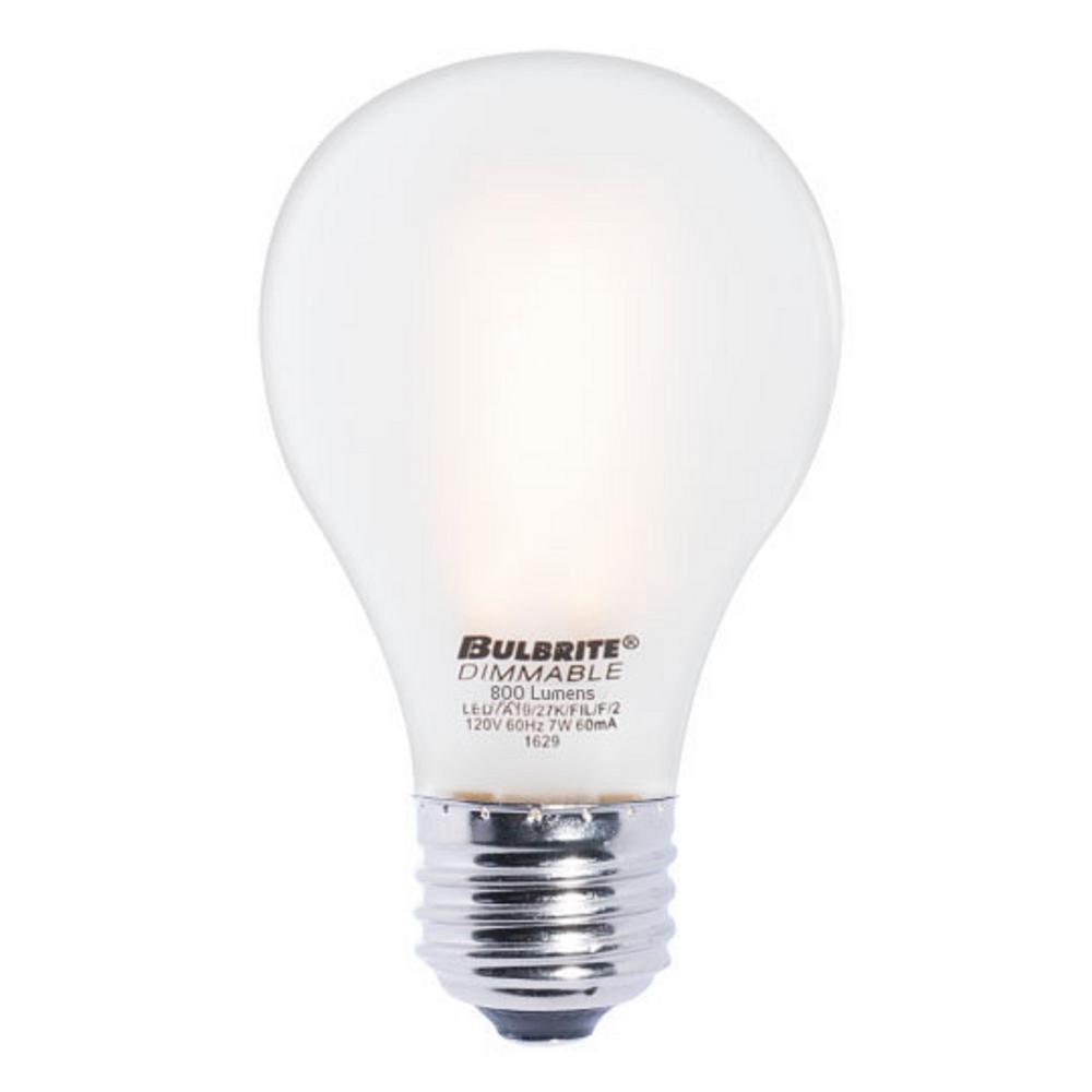 Bulbrite 40w Equivalent Warm White Light G16 Dimmable Led: Bulbrite 60W Equivalent Warm White Light A19 Dimmable LED