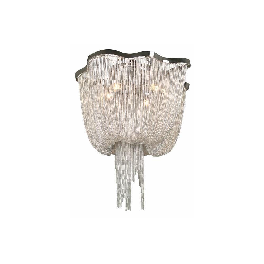 Avenue Lighting 3-Light Polished Chrome Flush Mount