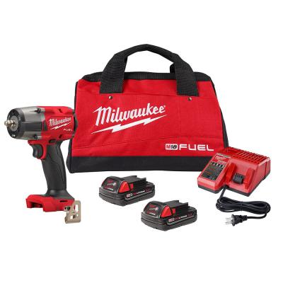 M18 FUEL GEN-2 18-Volt Lithium-Ion Mid Torque Brushless Cordless 3/8 in. Impact Wrench with Friction Ring Kit