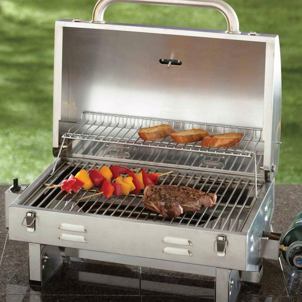 Incroyable Table Top Gas Grill Camping Portable Stainless Steel Outdoor Cooking BBQ  Boat RV | EBay