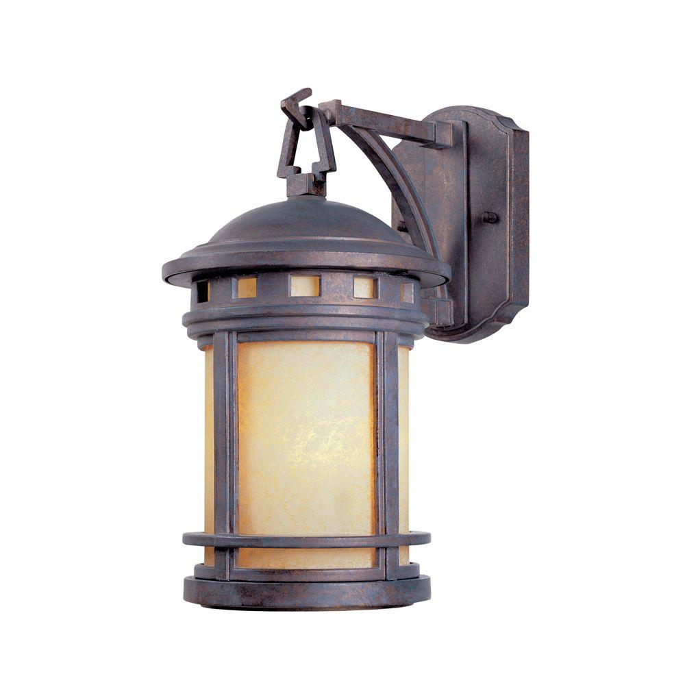 Designers Fountain Mesa Collection Mediterranean Patina Outdoor Wall-Mount Lantern