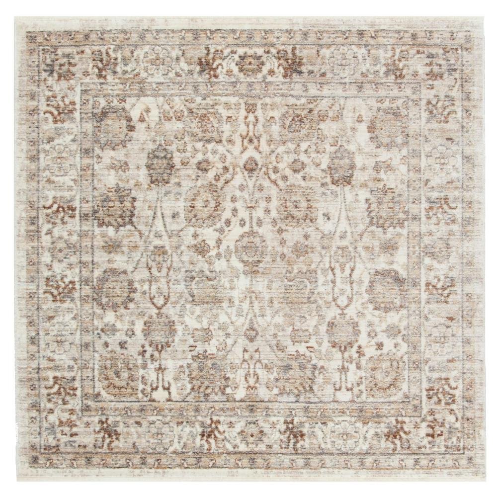 Safavieh Illusion Cream Light Brown 4 Ft X Square Area Rug