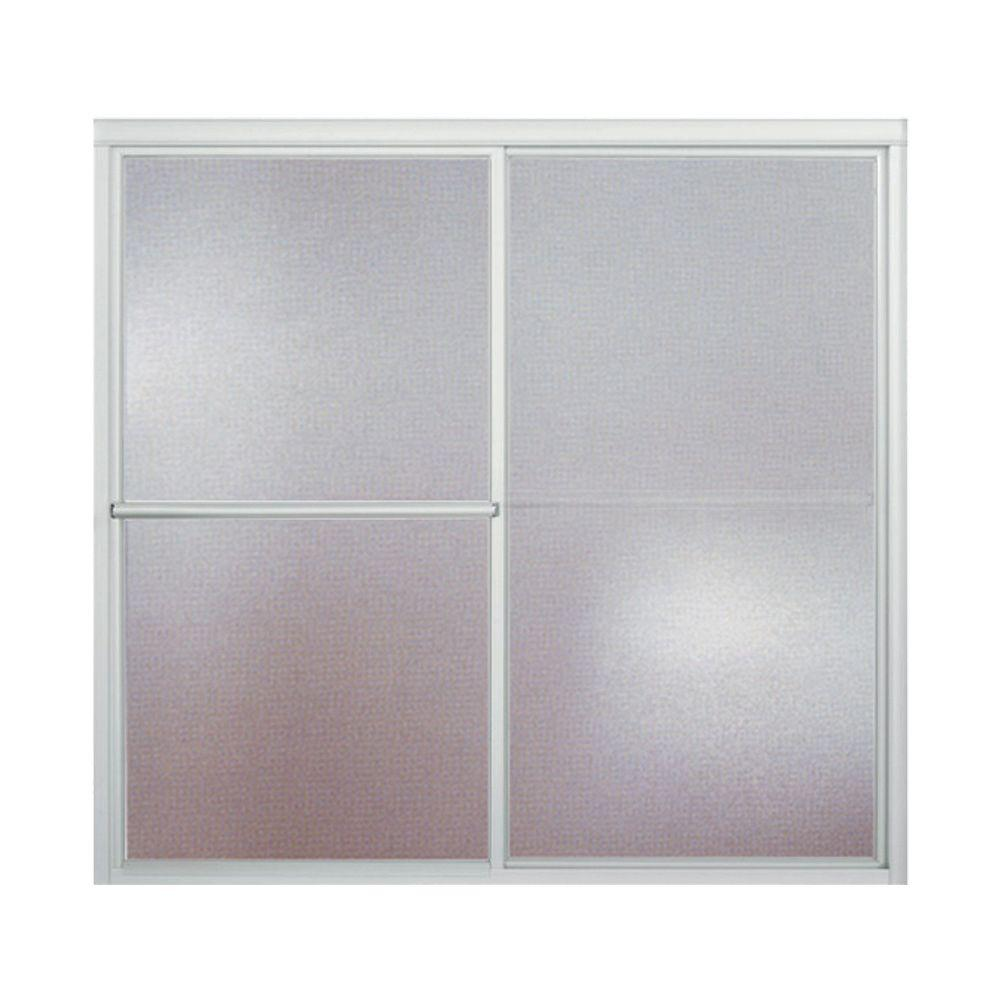 Store SO SKU #1000800884  sc 1 st  The Home Depot & STERLING Deluxe 59-3/8 in. x 56-1/4 in. Framed Sliding Bathtub Door ...