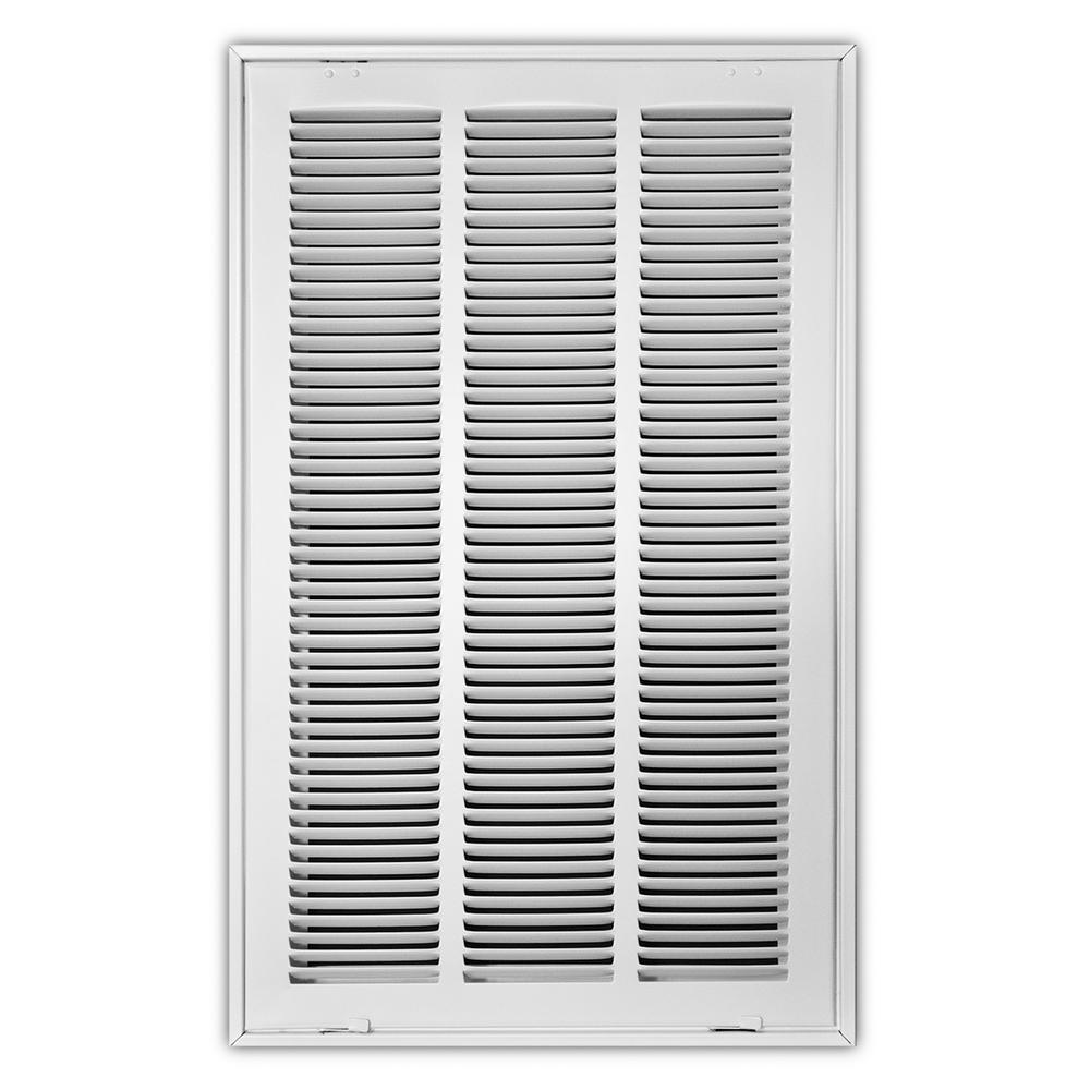 14 in. x 24 in. White Return Air Filter Grille