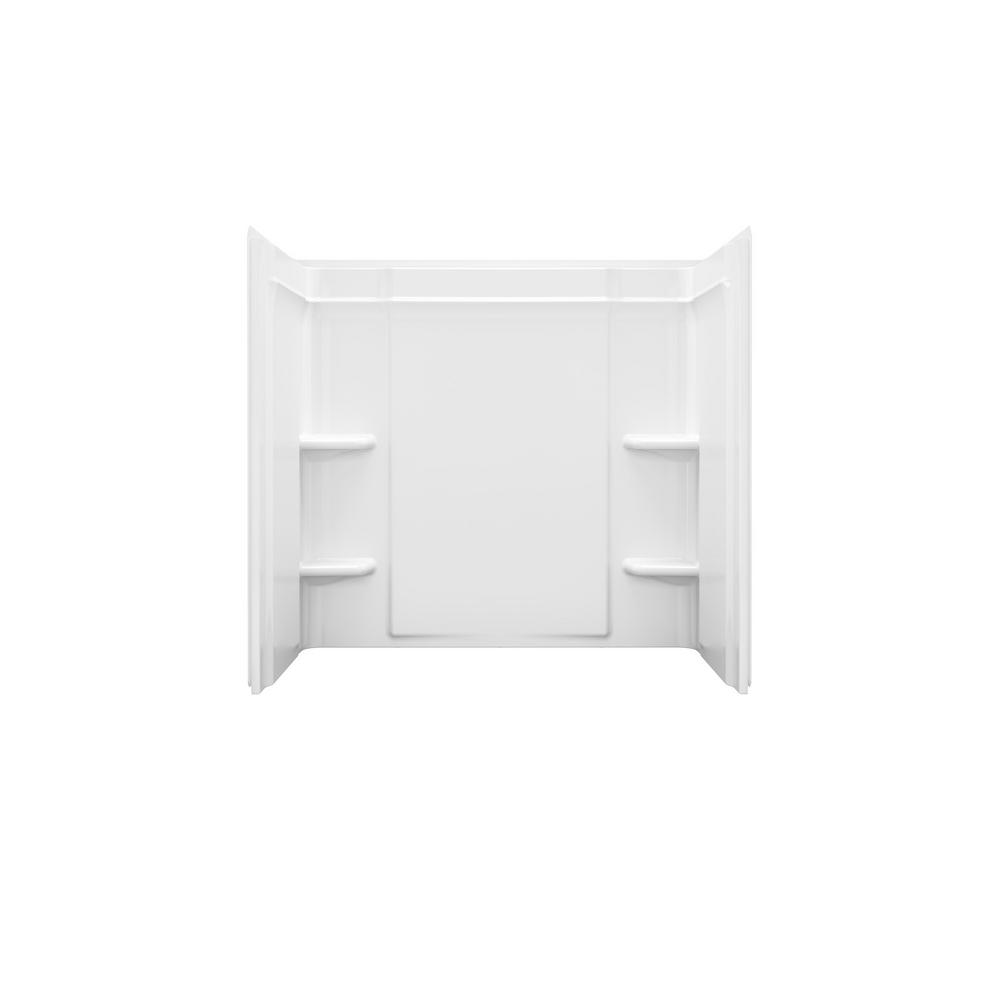 Ensemble 60 in. x 30 in. 3-Piece Snap-Together Installation Alcove Tub