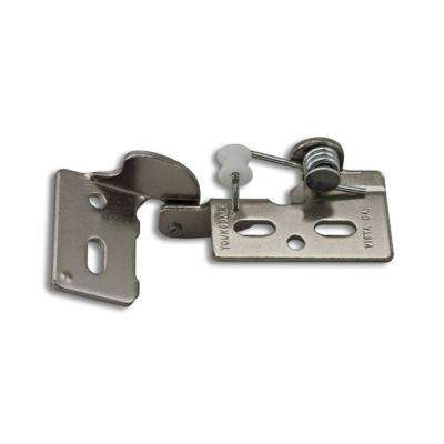 Chrome #4 3/8 in. Lip Inset Non-Wrap Self-Closing Hinge