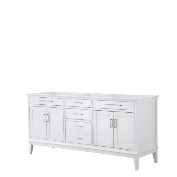 Margate 70.75 in. W x 21.5 in. D Bath Vanity Cabinet Only in White