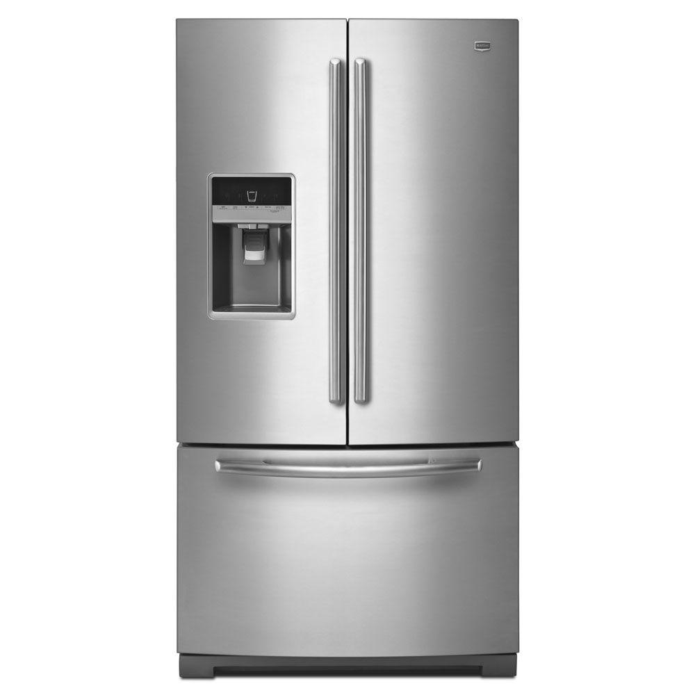 Maytag Ice2O 26.1 cu. ft. French Door Refrigerator in Monochromatic Stainless Steel-DISCONTINUED