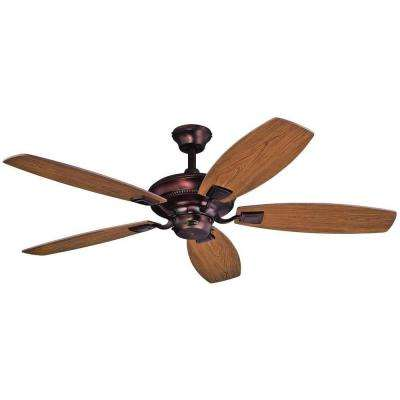 Aiden 52 in. Indoor Oil Brushed Bronze Finish Ceiling Fan