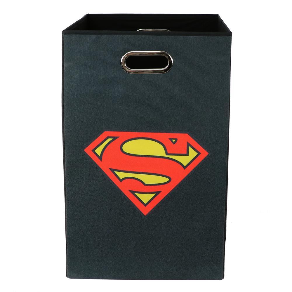 Superman Logo Black Folding Laundry Basket