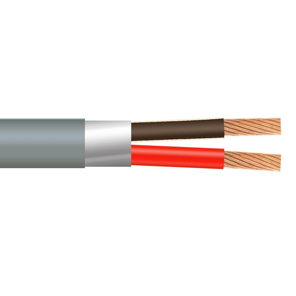 22/2 Stranded Shielded CMR/CL3R Gray Security Cable