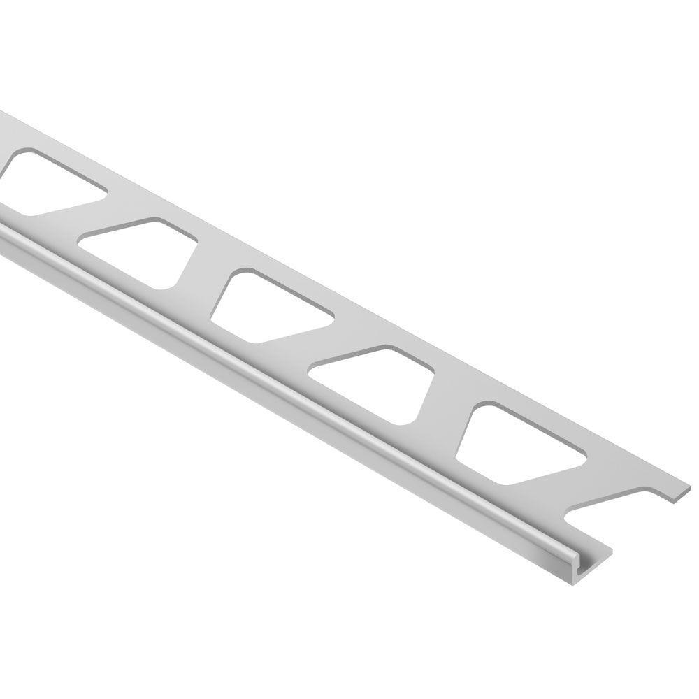 Schiene Satin Anodized Aluminum 1/8 in. x 8 ft. 2-1/2 in. Metal L-Angle Tile Edging Trim