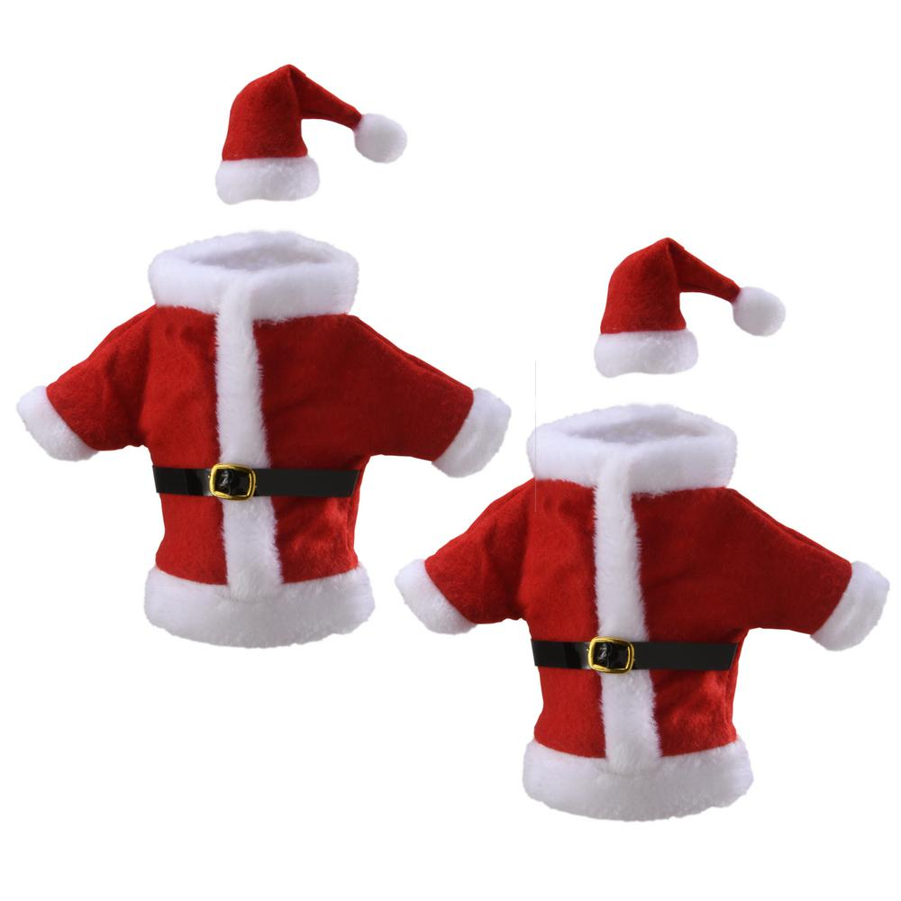 National Tree Company 9 5 In Wine Bottle Santa Suit Cover