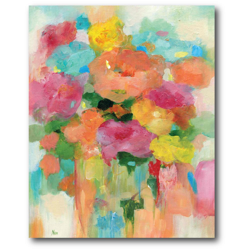 Splashy Flower Ii Canvas Wall Art