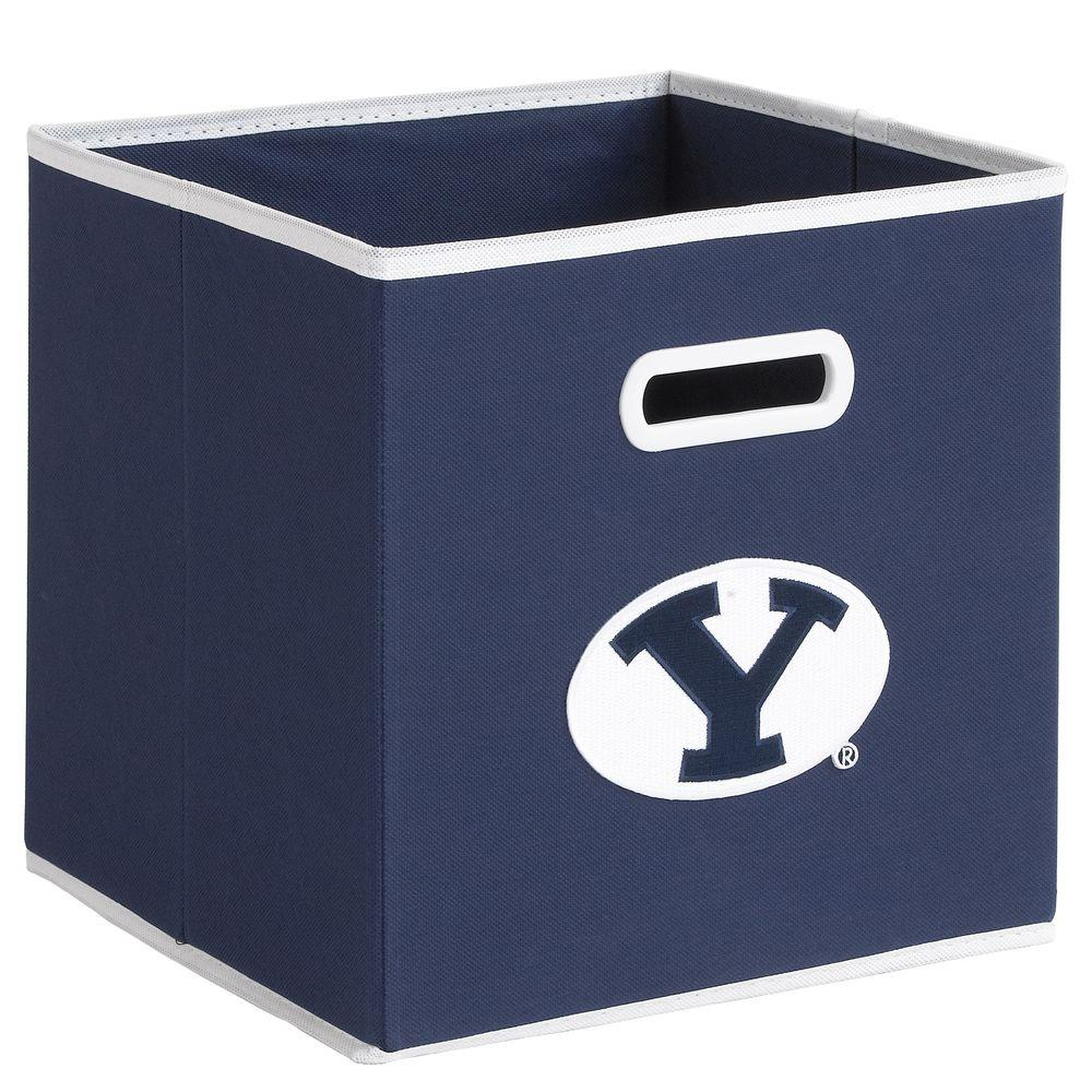 null College STOREITS Brigham Young University 10-1/2 in. W x 10-1/2 in. H x 11 in. D Navy Fabric Storage Drawer