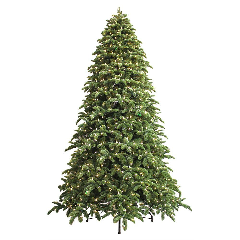 Artificial Christmas Trees: GE 9 Ft. Just Cut Noble Fir EZ Light Artificial Christmas