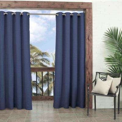 Key Largo Indoor/Outdoor Window Curtain Panel in Indigo - 52 in. W x 95 in. L