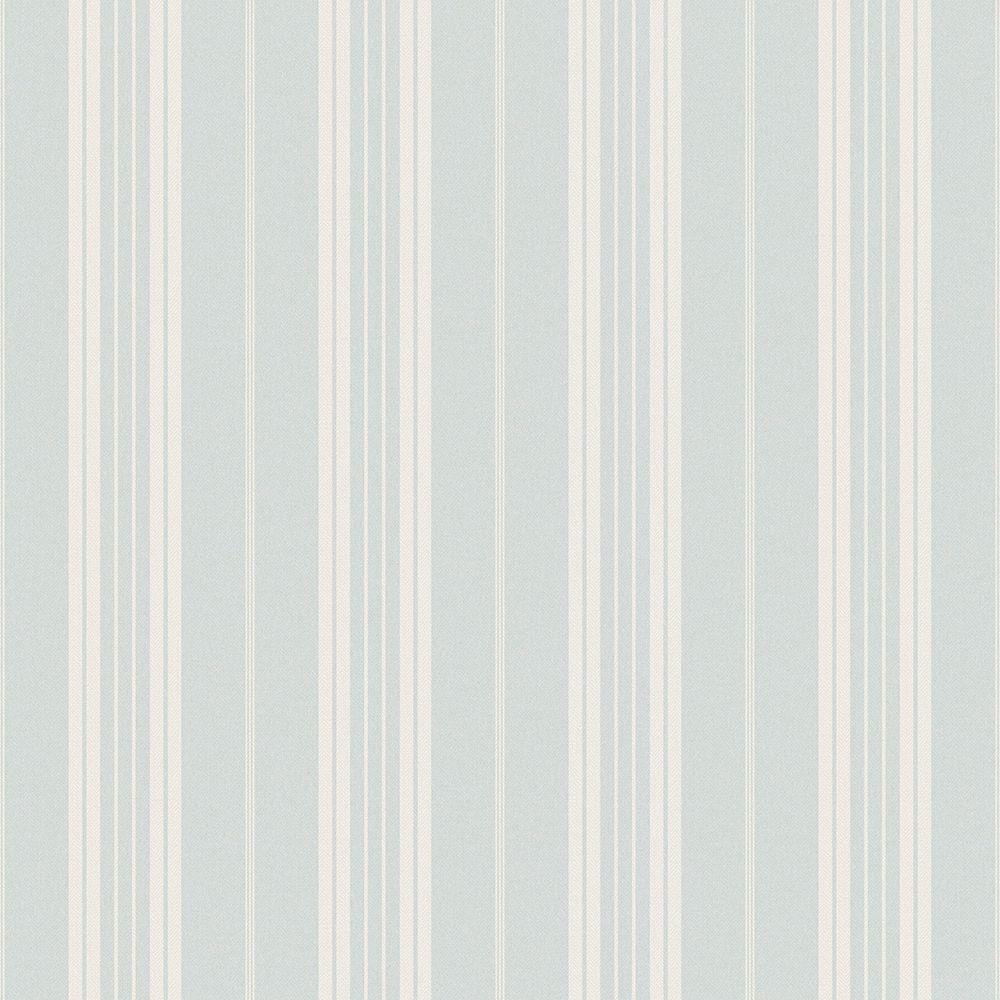 Chesapeake Farmhouse Light Blue Stripe Wallpaper Sample