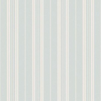 Farmhouse Light Blue Stripe Wallpaper Sample