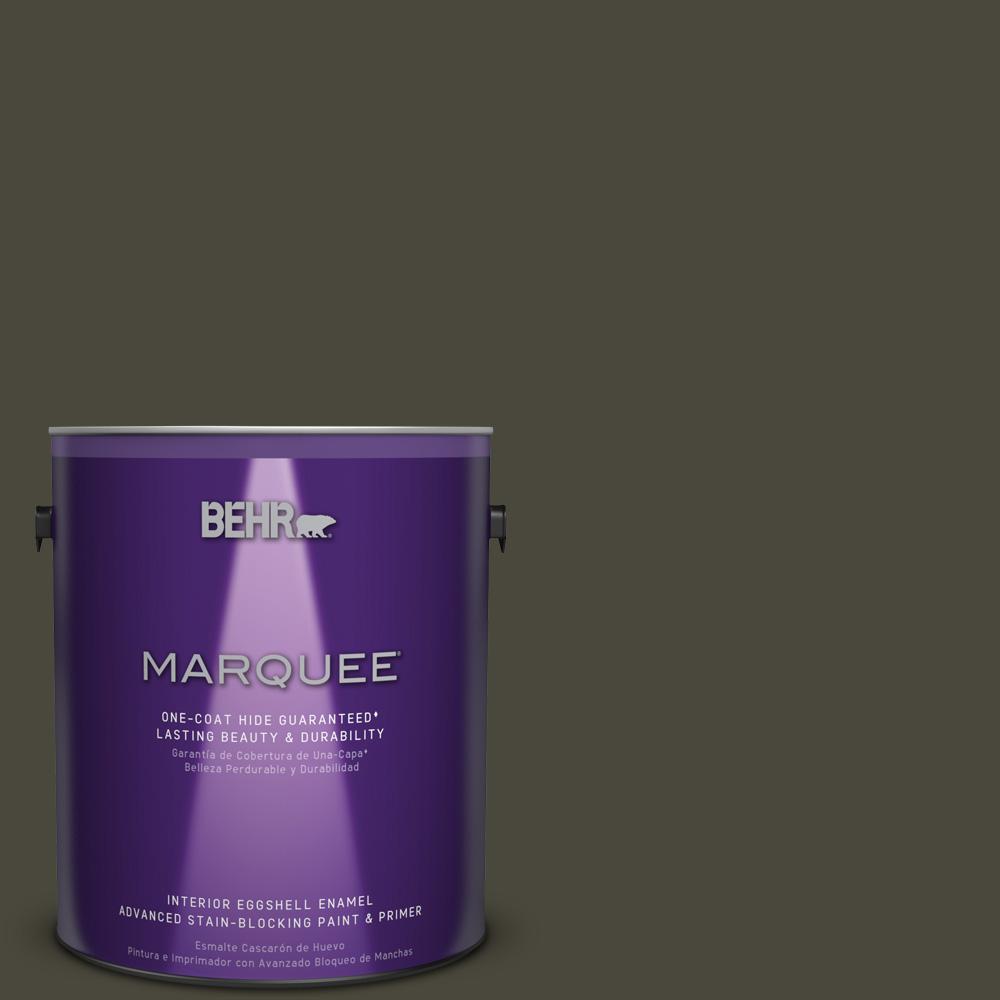 1 gal. #PPU24-01 Black Mocha Eggshell Enamel Interior Paint