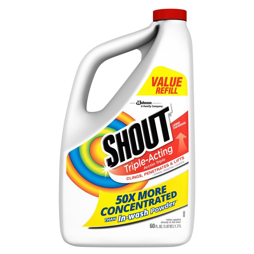 Shout 60 Fl Oz Triple Acting Liquid Refill Fabric Stain